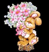 Hugz - BunnyWithFlowers