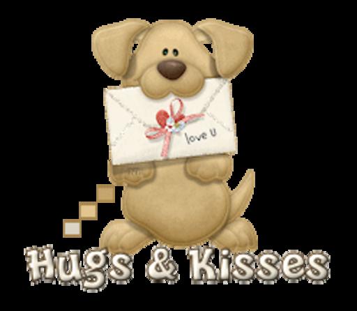 Hugs & Kisses - PuppyLoveULetter