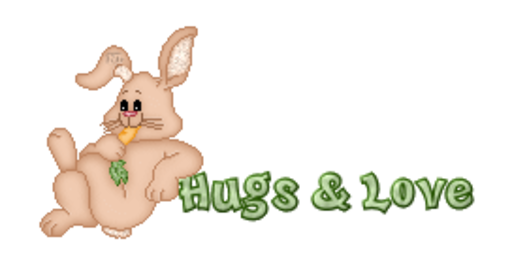 Hugs & Love - BunnyWithCarrot