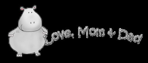 Love, Mom & Dad - CuteHippo2018