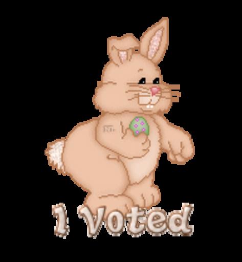 I Voted - BunnyWithEgg
