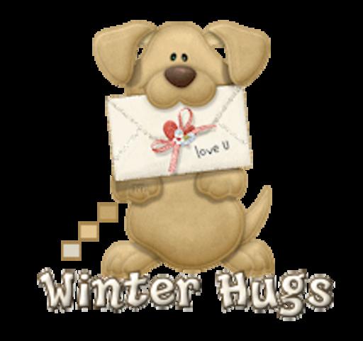 Winter Hugs - PuppyLoveULetter
