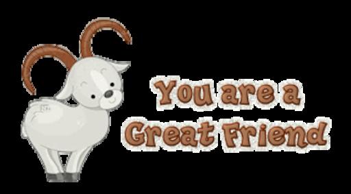 You are a Great Friend - BighornSheep
