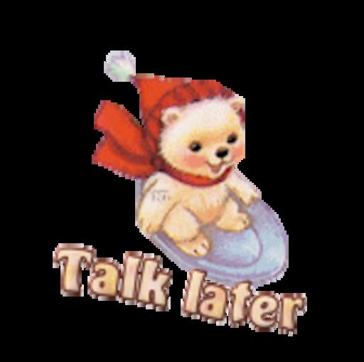 Talk later - WinterSlides