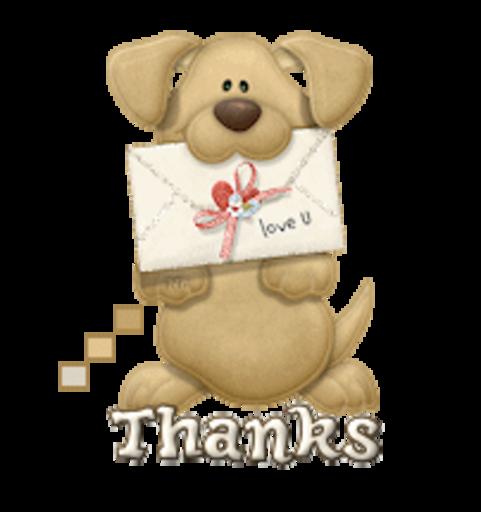 Thanks - PuppyLoveULetter