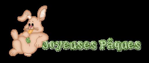 Joyeuses Paques - BunnyWithCarrot