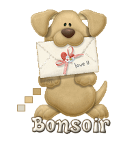 Bonsoir - PuppyLoveULetter