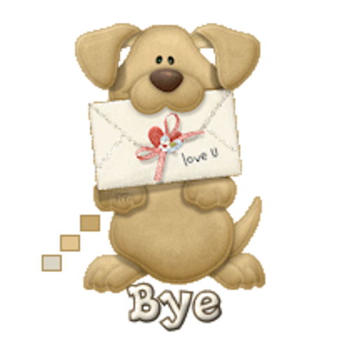 Bye - PuppyLoveULetter