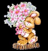 Grammie - BunnyWithFlowers
