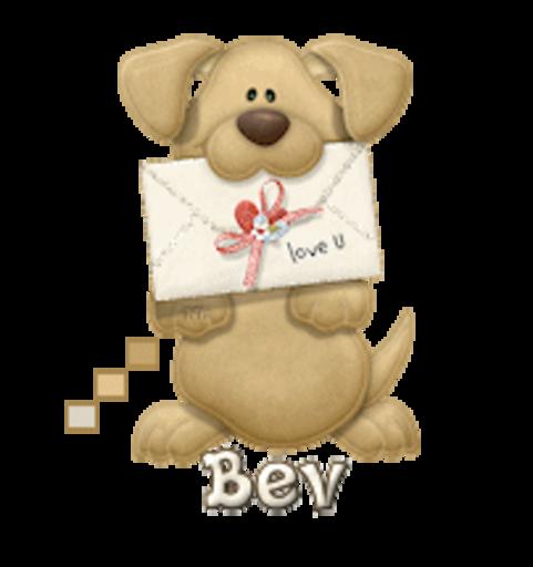 Bev - PuppyLoveULetter