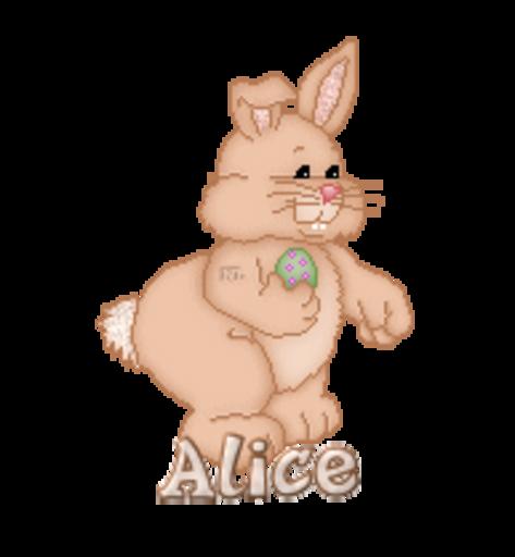 Alice - BunnyWithEgg