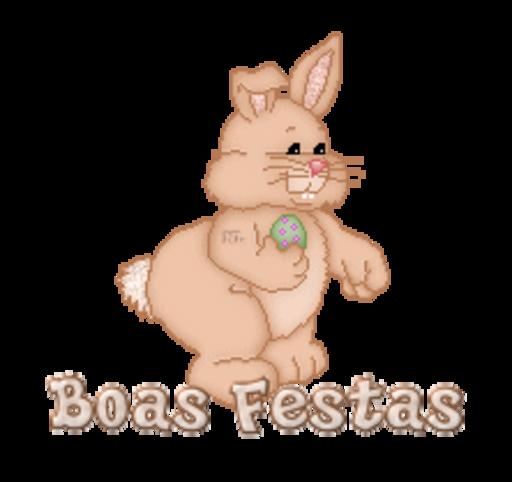 Boas Festas - BunnyWithEgg