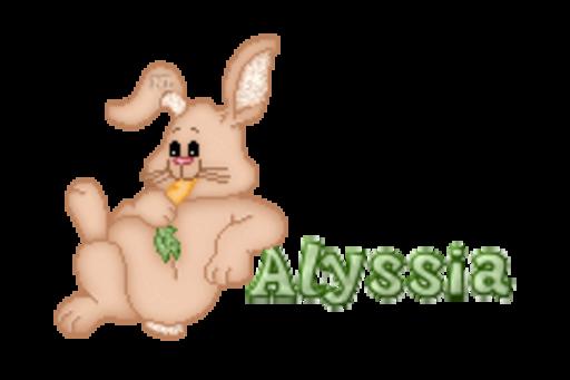Alyssia - BunnyWithCarrot