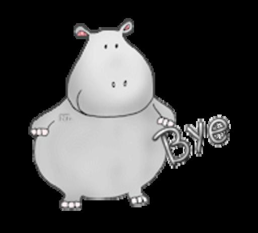 Bye - CuteHippo2018