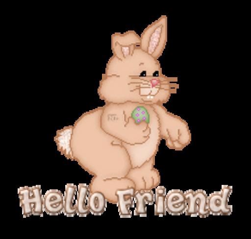 Hello Friend - BunnyWithEgg