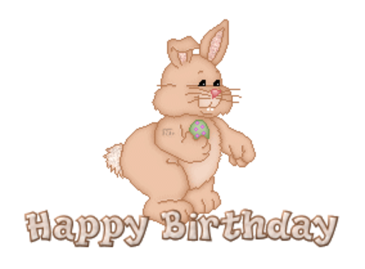 Happy Birthday - BunnyWithEgg