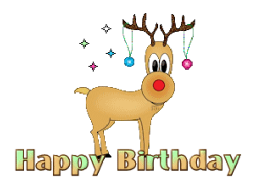 happy birthday christmasreindeer
