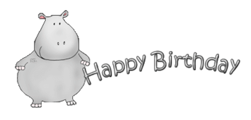 Happy Birthday - CuteHippo2018