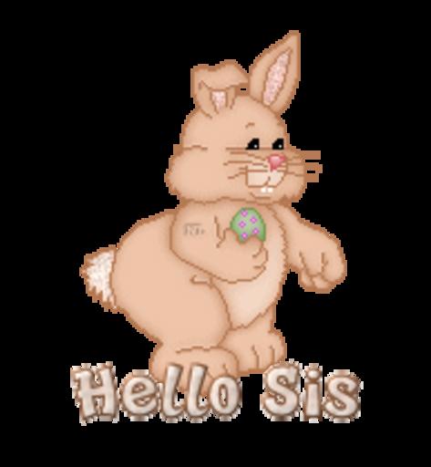 Hello Sis - BunnyWithEgg