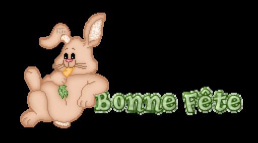 Bonne Fete - BunnyWithCarrot