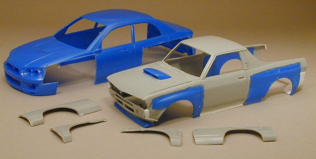 In no time I had grafted the STi fenders to the BRAT body.
