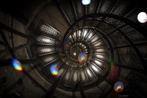 spiral staircase of the Arc de Triumph