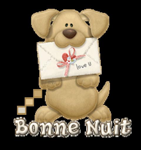 Bonne Nuit - PuppyLoveULetter
