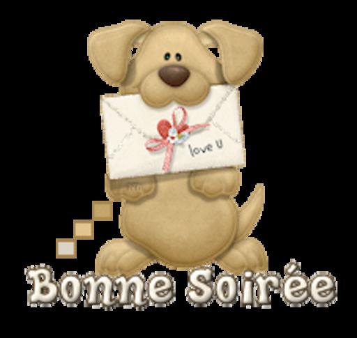 Bonne Soiree - PuppyLoveULetter