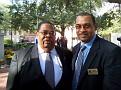 Former Mayor of Savannah Floyd Adams in the company of HAHS Board Member Harry St Louis.