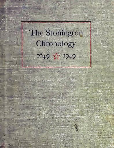 STONINGTON CHRONOLOGY - COVER