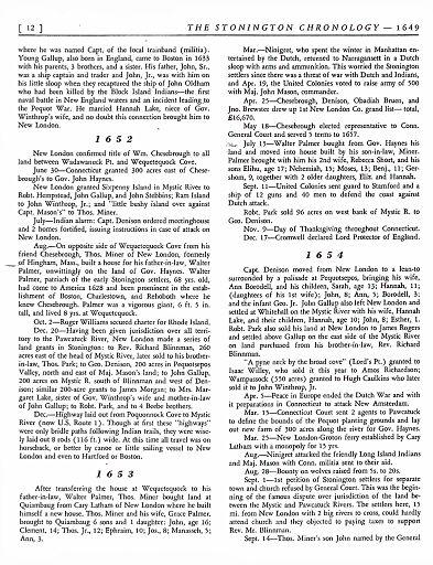 STONINGTON CHRONOLOGY - PAGE 012