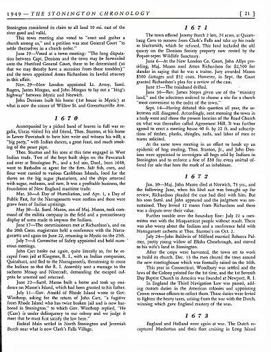 STONINGTON CHRONOLOGY - PAGE 021