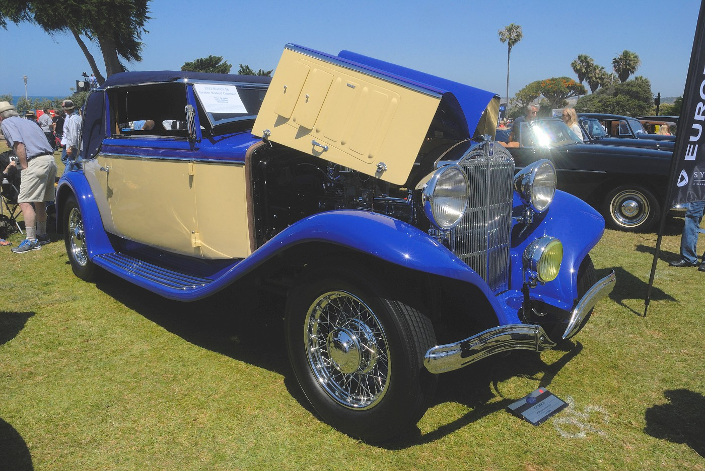 1931 Bianchi S8 Cabriolet owned by Roy Sayles