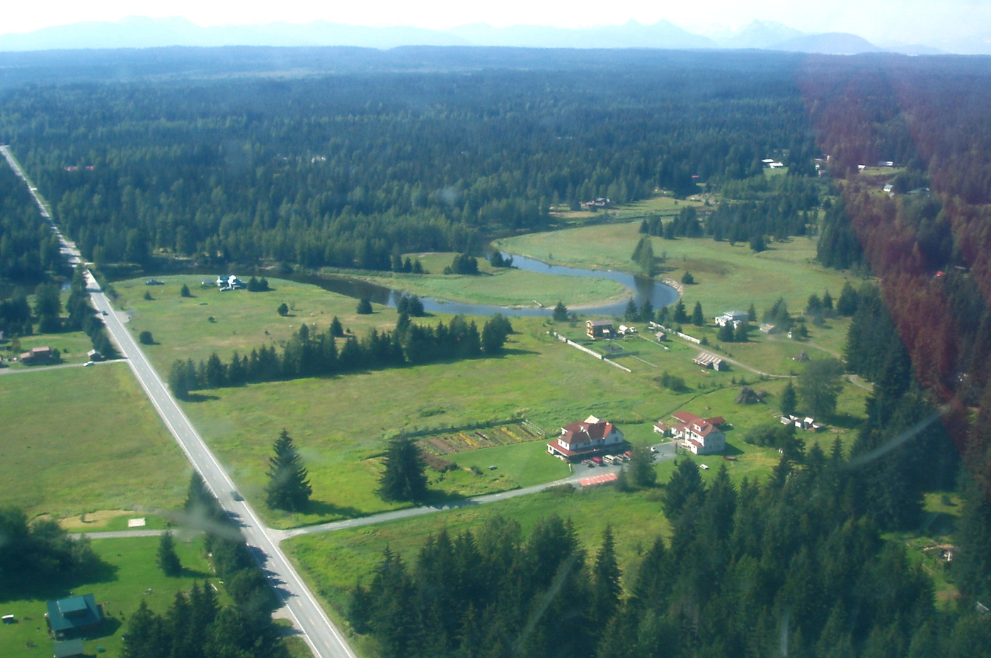 Gustavus Inn sits in the Salmon River meadow