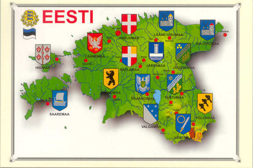 ESTONIA 02 COUNTIES FLAGS