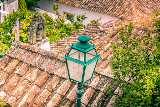 Roofs and lamp
