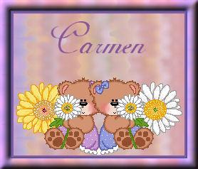 Friends with flowersCarmen