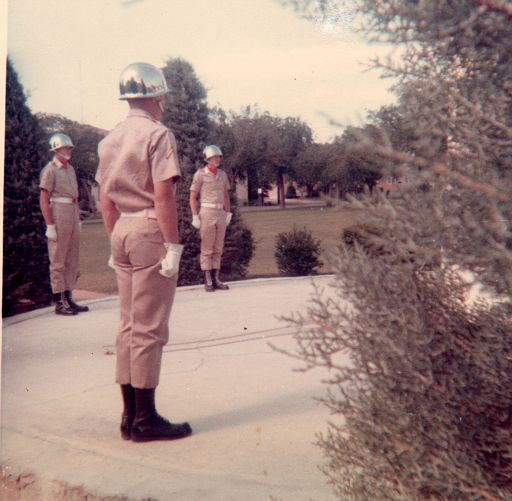Main Post Headquarters at Fort Sill, OK - ERay on the far-right in 1967