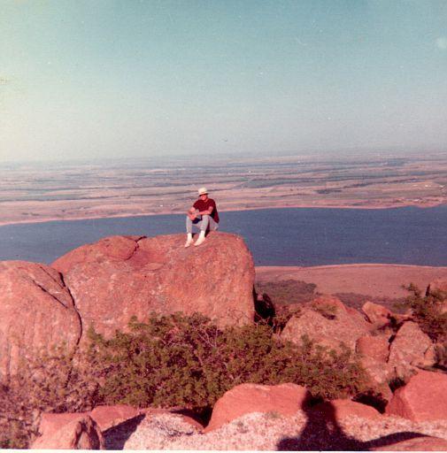 ERay on top of Mt. Scott, 1970. Between my 2 Vietnam tours.